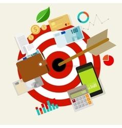 financial money business target purpose plan vector image