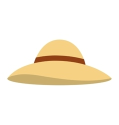 hat female summer fashion isolated icon vector image