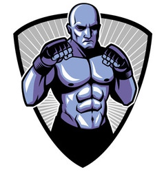MMA fighter pose vector image