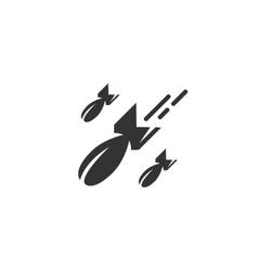 Bomb icon isolated on white background vector image