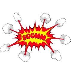 Comic explosion Boom vector image