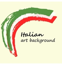 Creative background in the Italian colors Italy vector image vector image