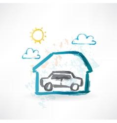garage grunge icon vector image