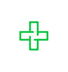 logo cross health vector image vector image