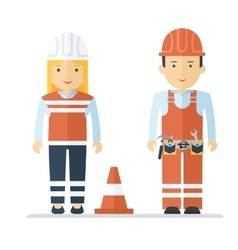 profession worker man and woman vector image vector image