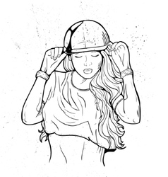 Rap attractive girl vector image vector image