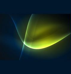 smoky glowing waves in the dark vector image vector image