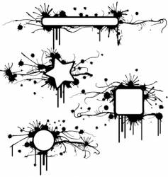 stained grunge frames vector image vector image