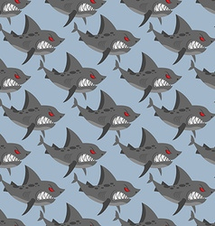 Terrible shark Pack of sharks seamless background vector image vector image