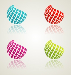 Abstract color icons vector image vector image