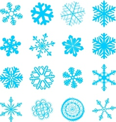 abstract snowflakes set vector image vector image
