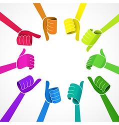 Color hands vector image