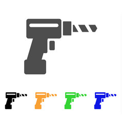 drill flat icon vector image