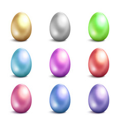 easter eggs icons easter eggs isolated vector image