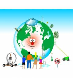 heal the world vector image