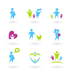 pregnancy family vector image vector image