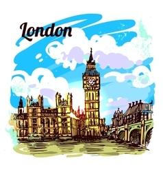 sketch London vector image vector image