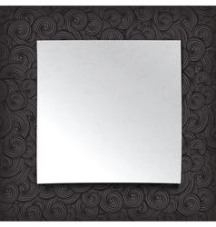 white paper on waves background vector image vector image