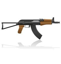 automatic machine AK 47 02 vector image vector image