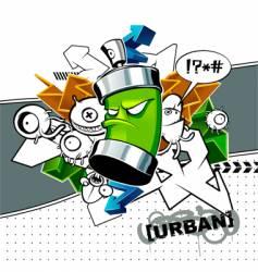 strange graffiti vector image vector image