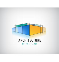 Abstract 3d architecture sign building vector