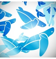 Abstract background turtle vector