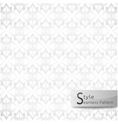 Abstract seamless pattern lotus mesh white vector