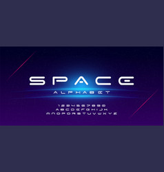 abstract technology space font and alphabet vector image
