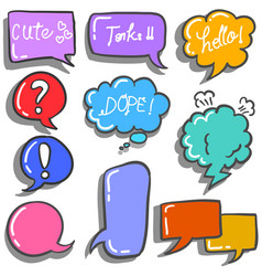 art of speech bubble colorful vector image