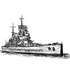 Battle ship vector