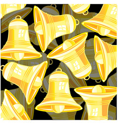 Bell from gild vector