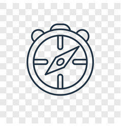 big compass concept linear icon isolated on vector image