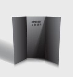 black blank tri-fold brochure design isolated vector image