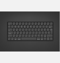 Black keyboard with english keys object isolated vector