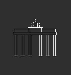 brandenburg gate in berlin vector image