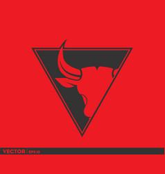 Bull logo coat of arm vector