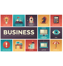 Business - set of flat design infographics vector