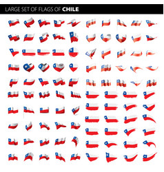 chile flag vector image