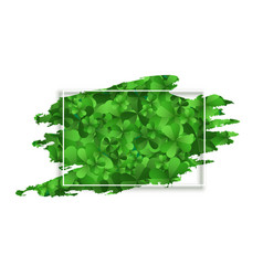 clover leaves frame with text space design vector image