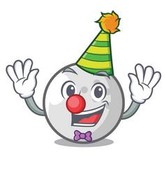 clown golf ball mascot cartoon vector image