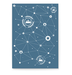 concept cover social media network vector image