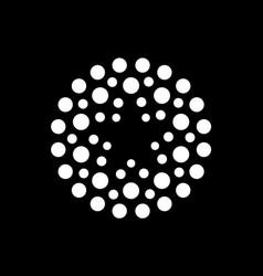 creative circle or dots star logotype star vector image