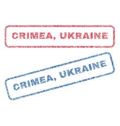 Crimea ukraine textile stamps vector