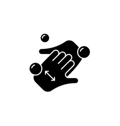 Cup fingers black glyph icon vector