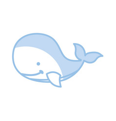 Cute whale tender icon vector