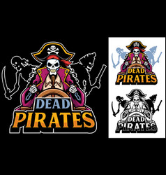 dead pirates mascot vector image