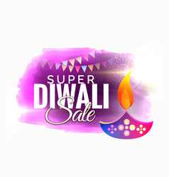 Diwali sale and offers promotional design with vector