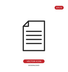 document icon file sign vector image