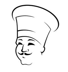 Doodle sketch a chef in a toque vector