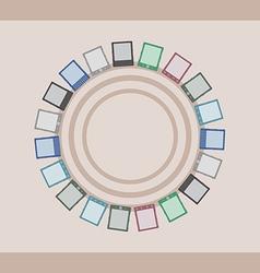 E-Book Reader minimal postcard vector
